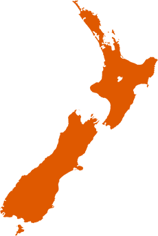 Delivery in New Zealand map